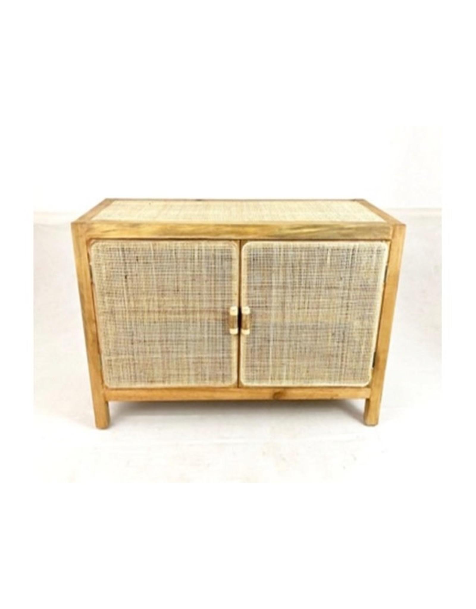 Van der Leeden Mandwerk Cabinet Webbing/Wood 100X40H65cm