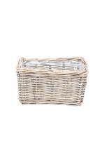 Van der Leeden Mandwerk Basket Rattan Grey With Lining Rec