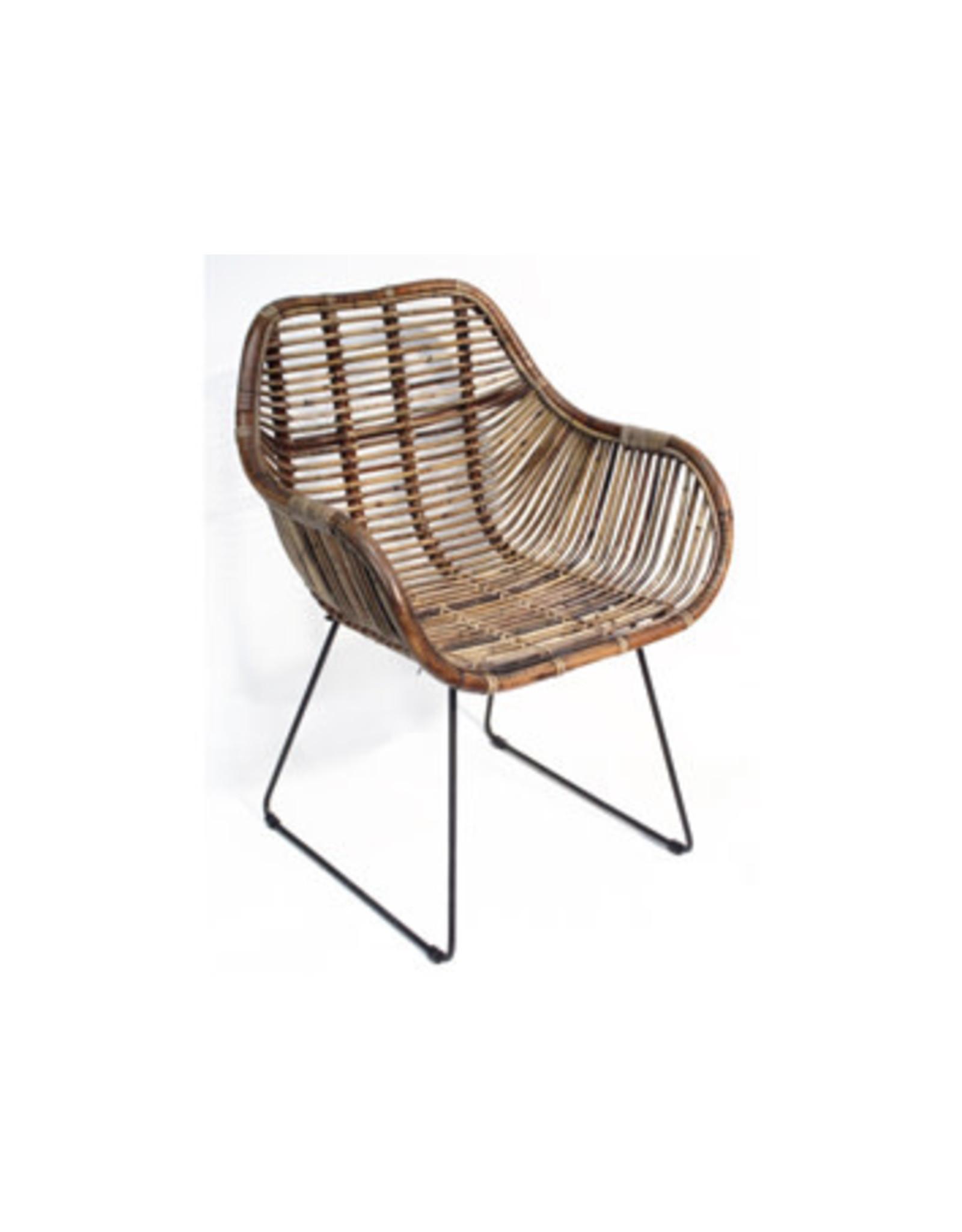Van der Leeden Mandwerk Dining Chair Rattan/Iron 65X58Xh88cm
