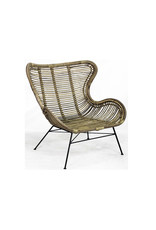 Van der Leeden Mandwerk Chair Rattan/Iron 70X76H90cm