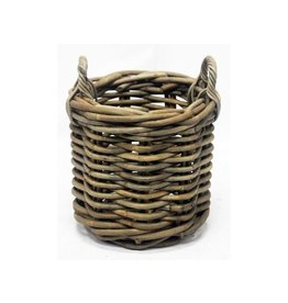 Van der Leeden Mandwerk Log Basket Grey