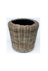 Van der Leeden Mandwerk Drypot Round Rattan D54H34cm