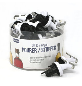 Danesco Danesco Oil & Vinegar Pourer/Stopper White