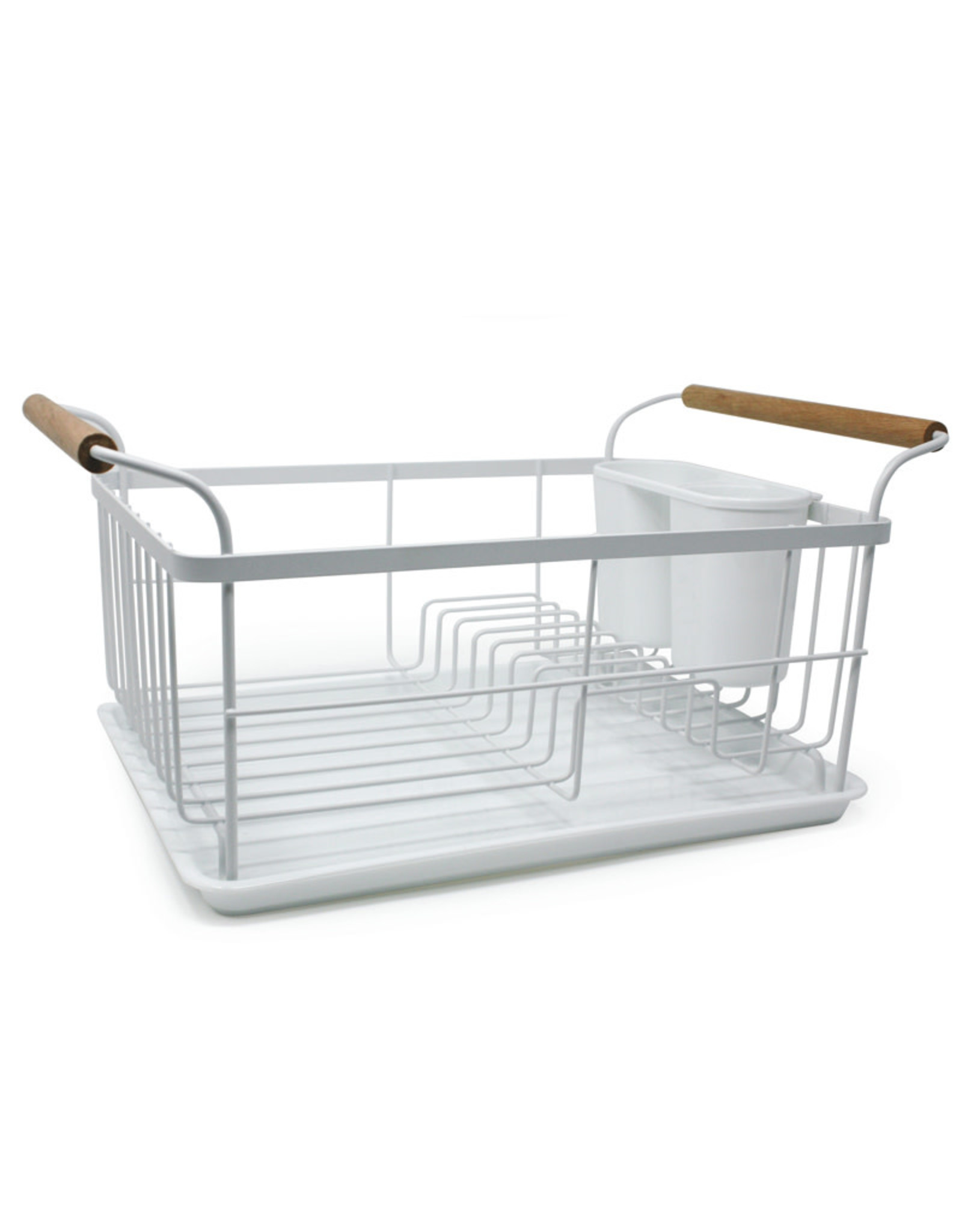 Danesco Danesco - Dish Rack with Drain Board and Wood Handles