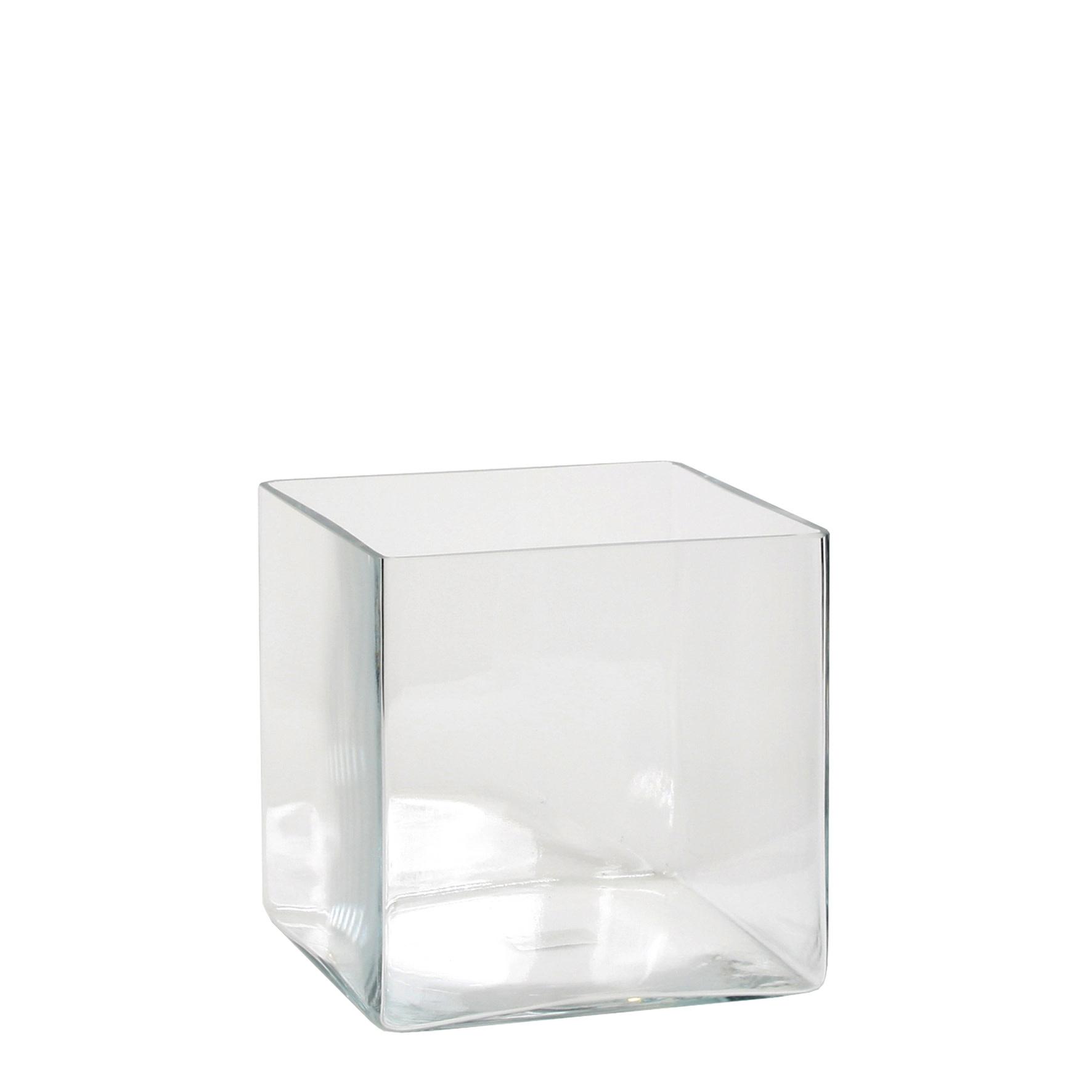 Britt Vase Square Transparent