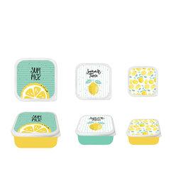 Koopman Storage Box Set 3Pcs Lemon Des