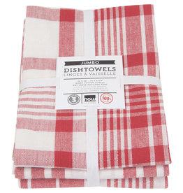 Danica - Tea Towel 3 Jumbo Red