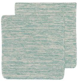 Danica Knit Heirloom Dishcloth - Set of 2 - Lagoon