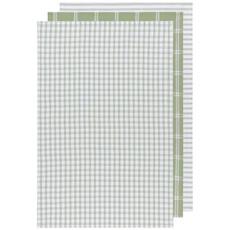 Danica Tea Towel - set of 3 Tic Tac Toe Sage