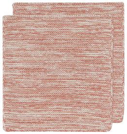 Danica Knit Heirloom  Dishcloth - Set of 2 - Clay