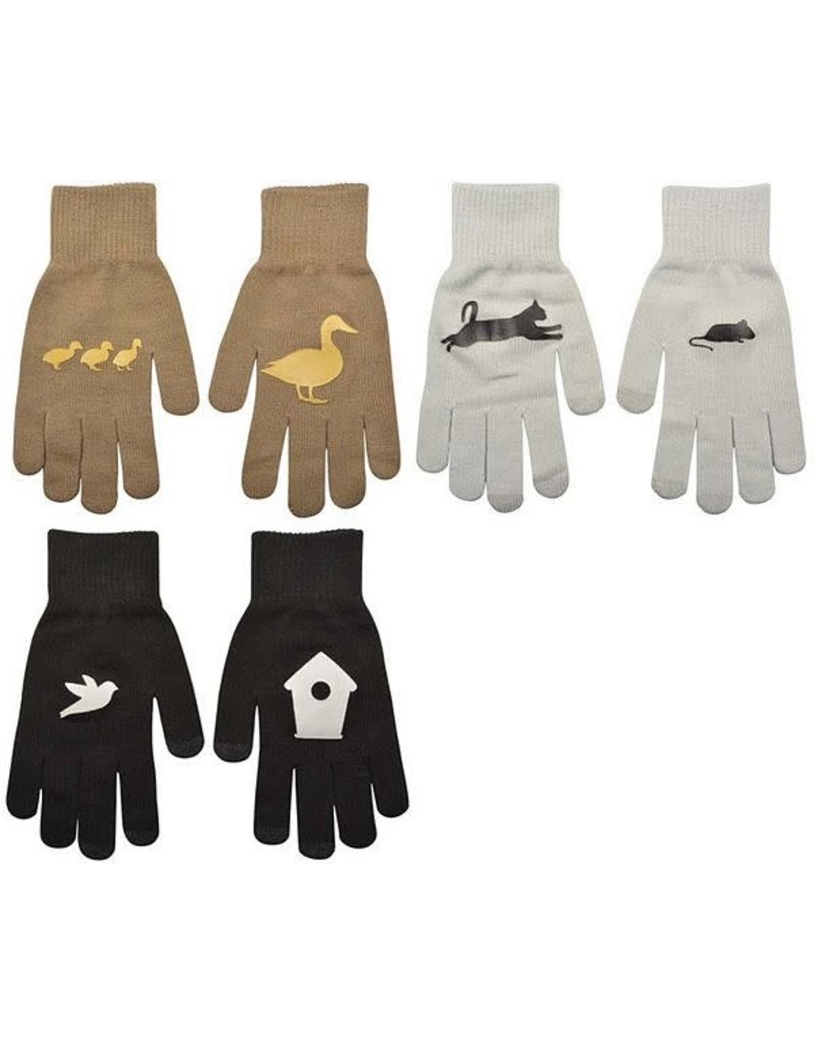 Connecting print gloves assort