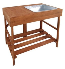 Hardwood potting table