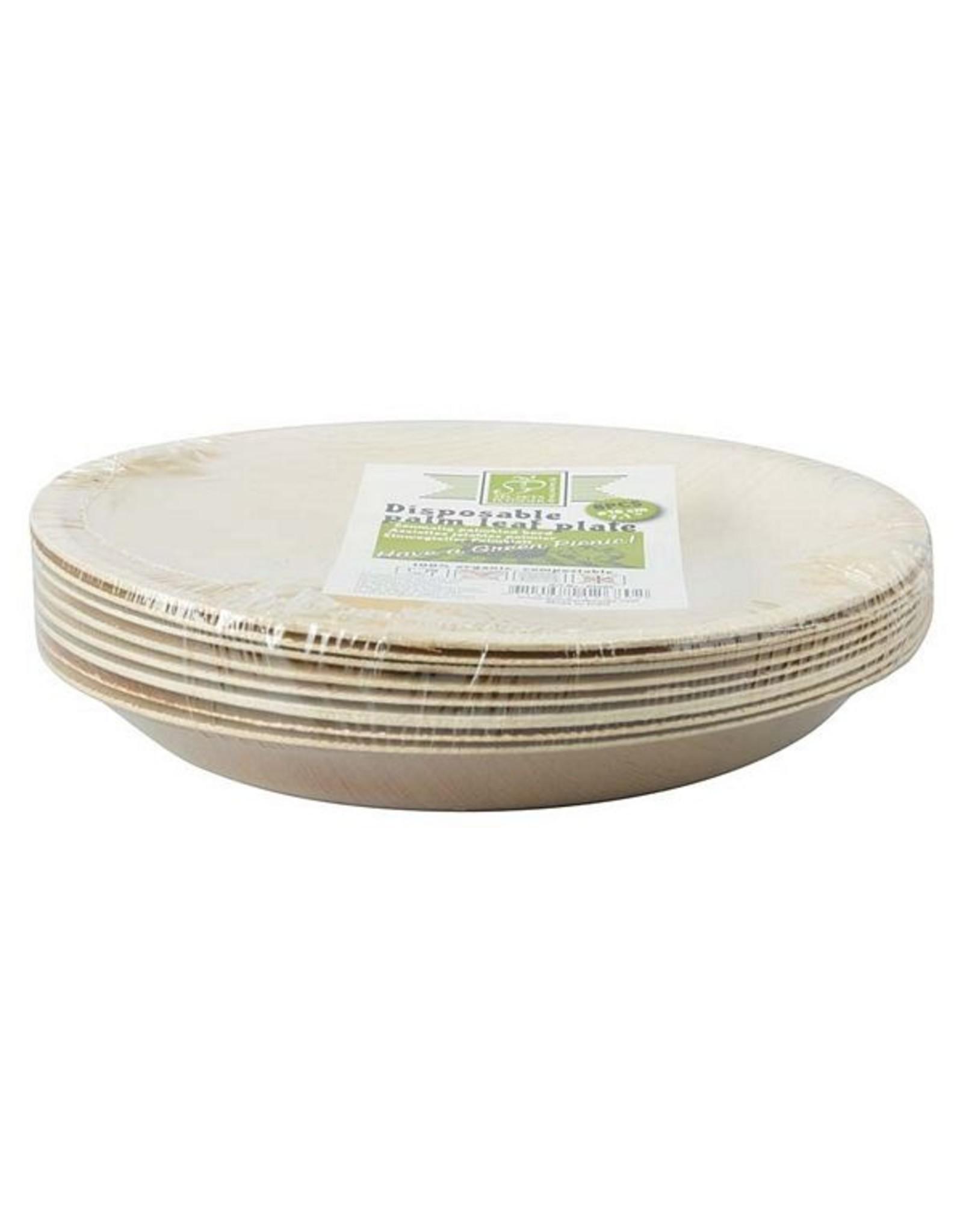 Esschert Disposable palm leaf plate set Small