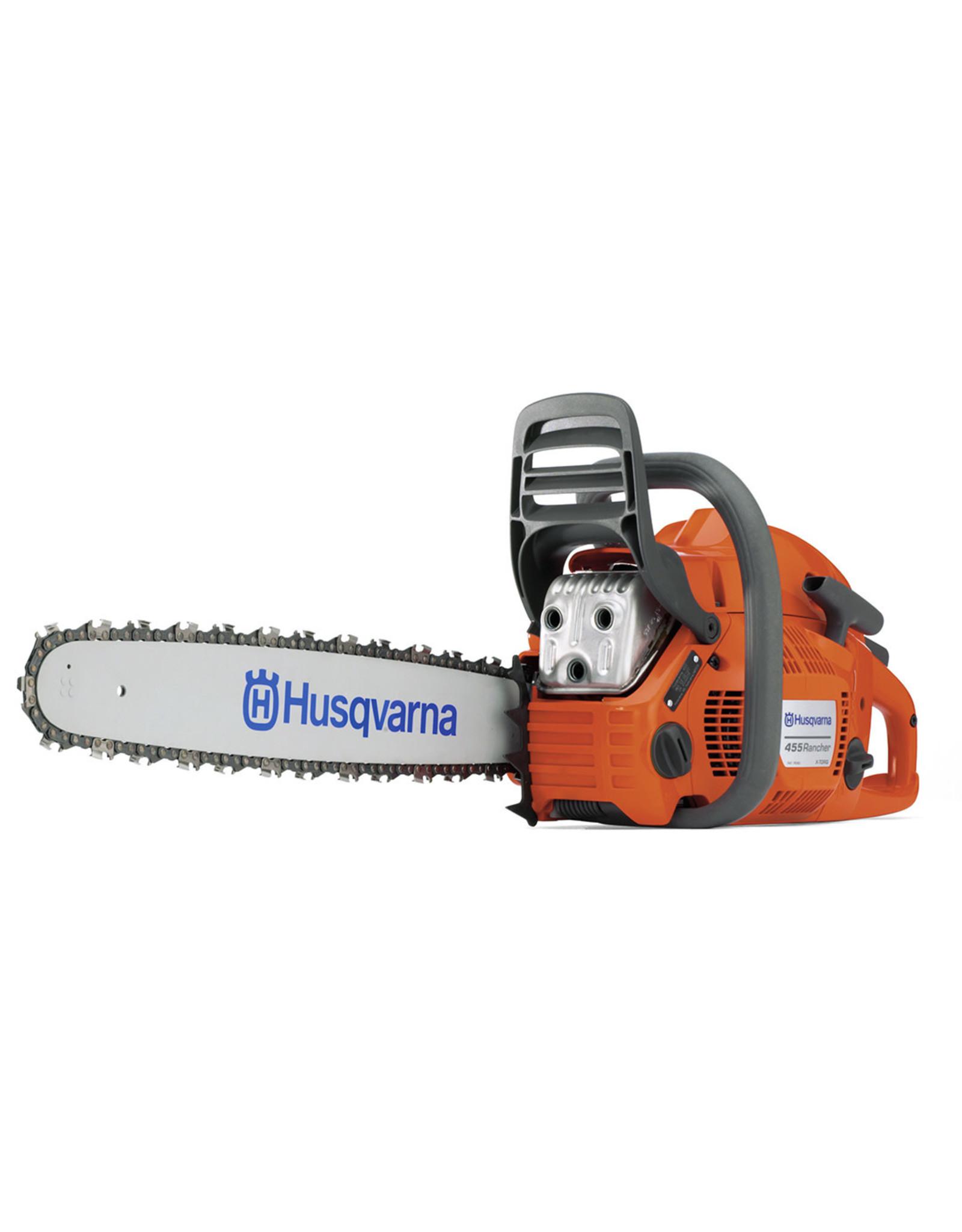 "Husqvarna 455 RANCHER 20"", 3/8 pitch, .050 ga. 55.5cc Rancher chainsaw, assembled"