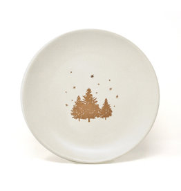 """Bia Alpine Plate with Gold Trees and Stars  - 8"""""""
