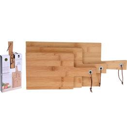 Koopman Cutting Board Bamboo Set 3Pcs