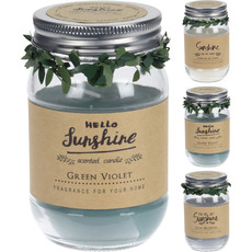 Koopman Candle In Glass Jar With Lid - Asst Scents