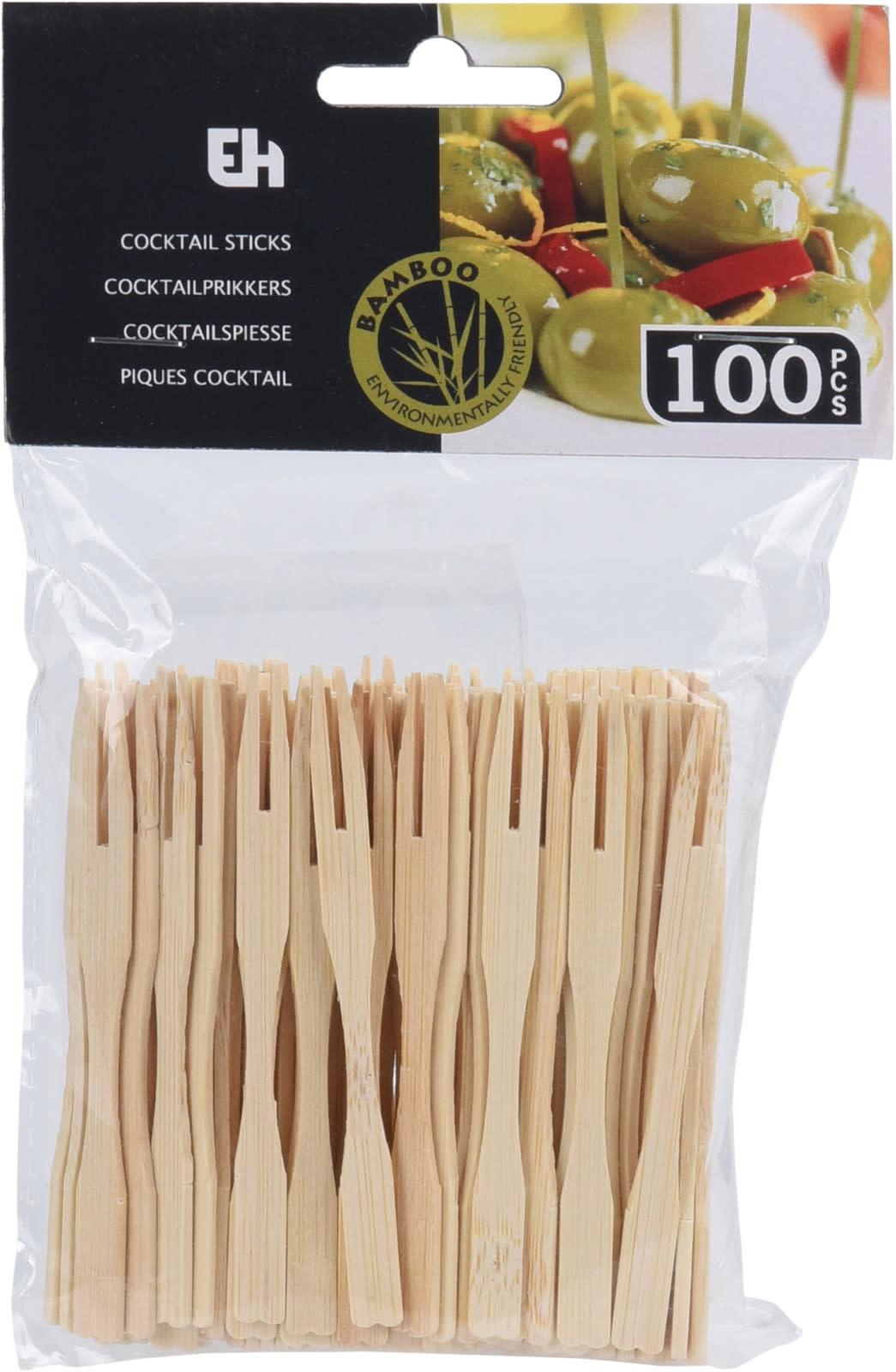 Koopman Cocktail Sticks Bamboo 100Pcs