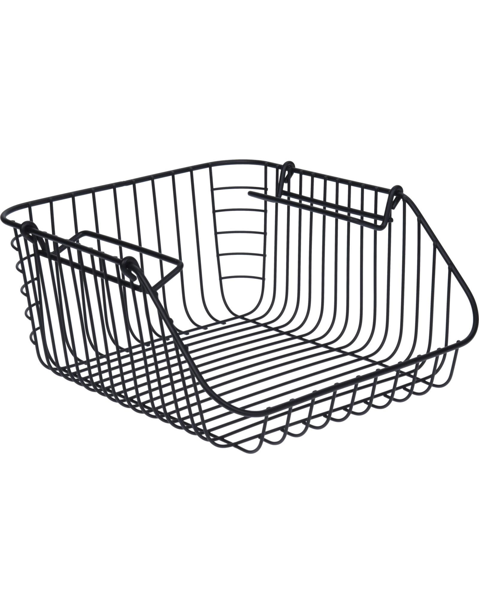 Koopman Basket Metal Black 30X27Xh14Cm