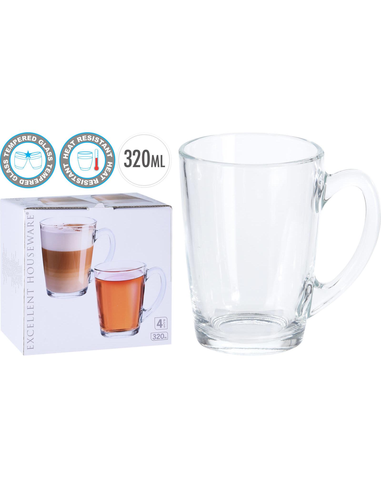 Koopman Coffee Tea Glass Set 4Pcs