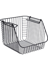 Koopman Basket Metal Black 29X27X21Cm