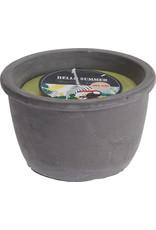 Koopman Candle In Cement Pot Green
