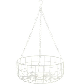 Koopman Basket Hanging 30X14Cm White