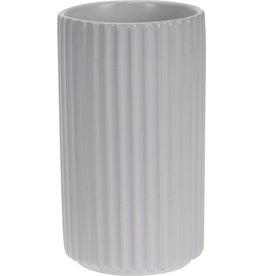 Koopman Flower Pot Ribbed Porcelain 4 Asst.