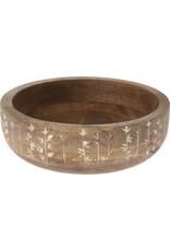 Koopman Bowl Mango Wood 24X7Cm