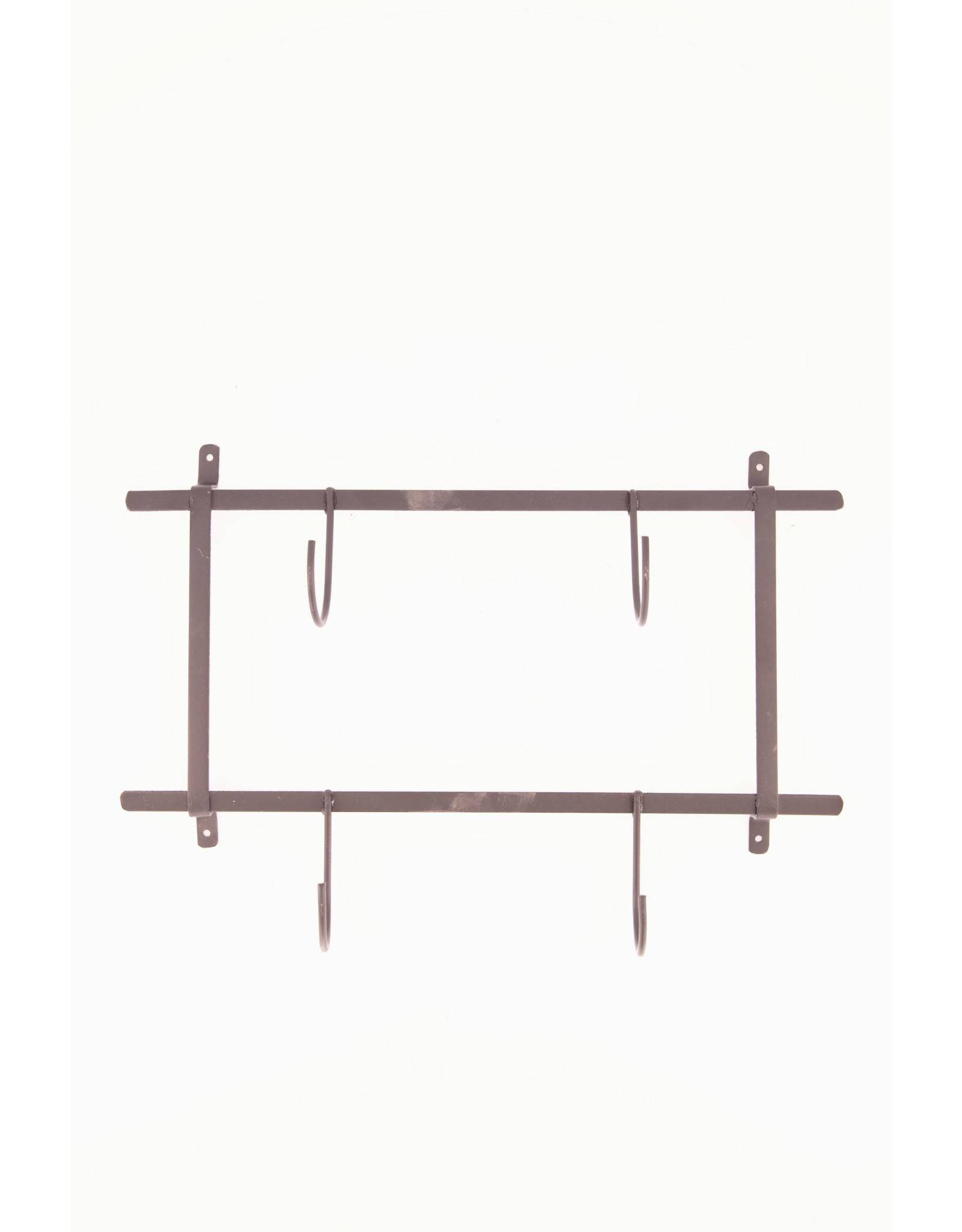 Dijk Coat Rack Metal - Black - 38x7.5x22.5cm