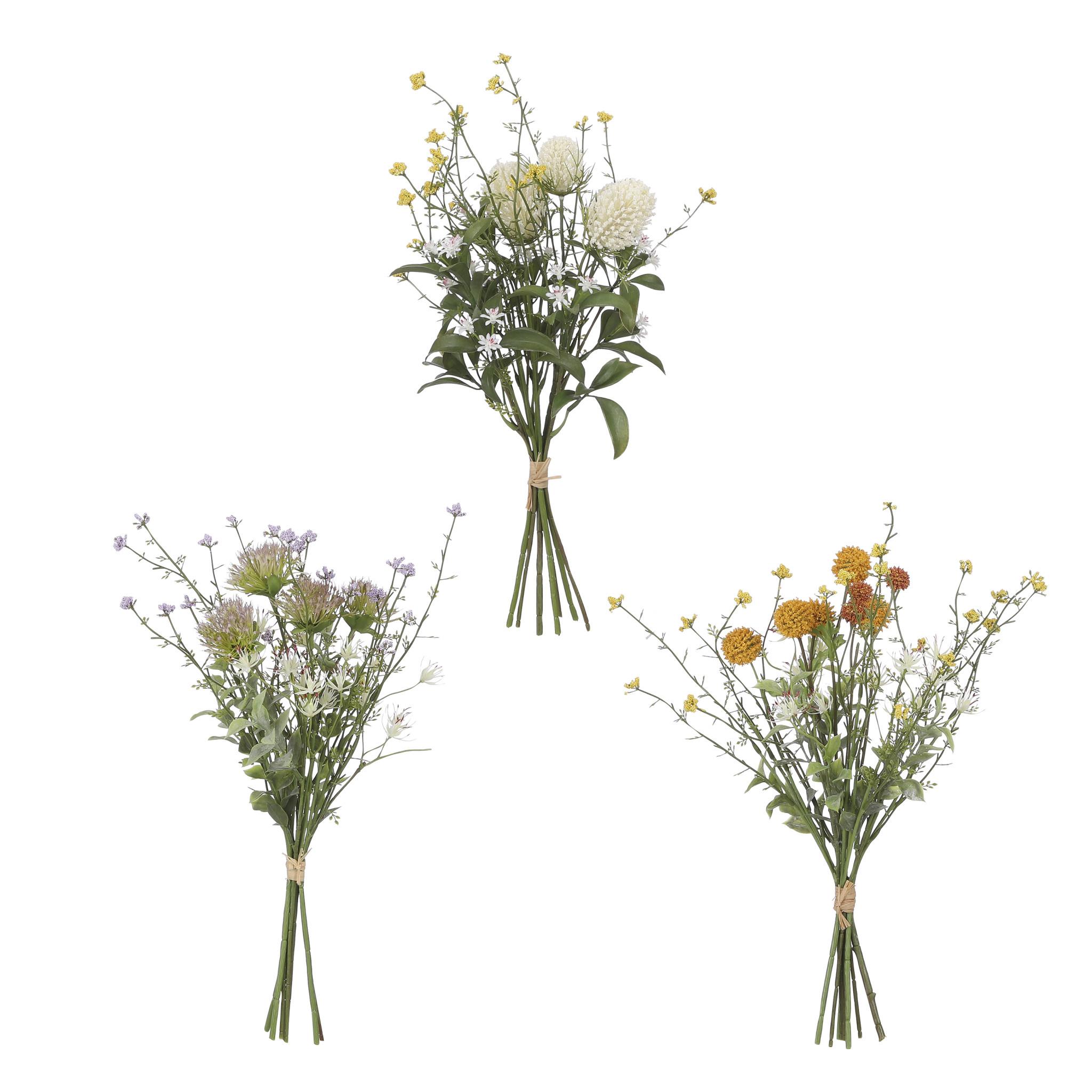 Mica Bouquet spring flower 3 ass.- l43xd20cm