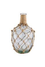 Dijk Bottle Glass - Wrapped in Jute Rope