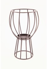 Dijk Candle Holder - Black Metal Wire - 17.5x28.5cm