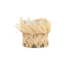 Dijk Candle Holder Grass with Glass - 10x10cm