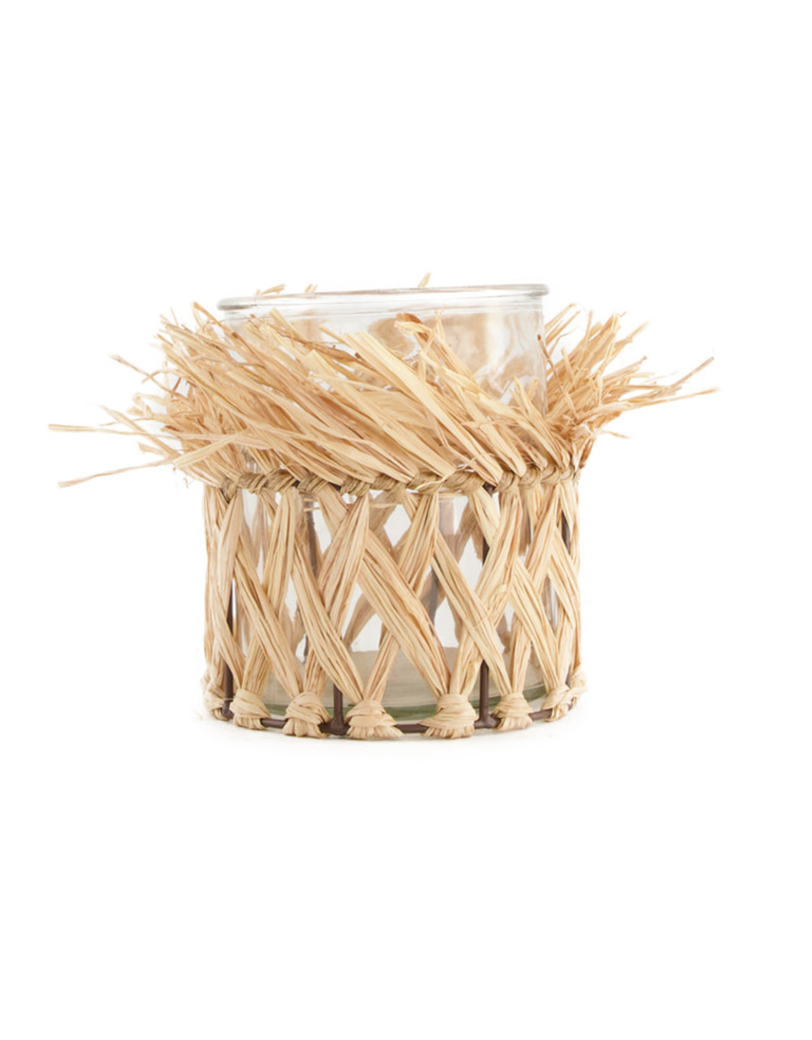 Dijk Candle Holder Grass with Glass - 12x15cm