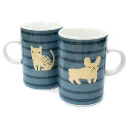 Danica Mug - Frenchie and Cat