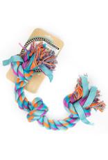 Bones & Arrows Bones & Arrows - Cotton & Nylon Four Knot Rope Bone Aqua 23.5''