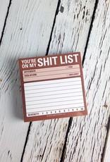 Shit List Sticky Notes