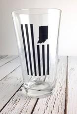 USI USI Indiana Flag Pint Glass
