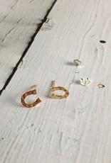 14k Gold-Plated Horseshoe Stud Earrings