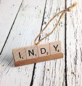 INDY Scrabble Tile Ornament