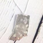 Handstamped Hammered Indiana Necklace