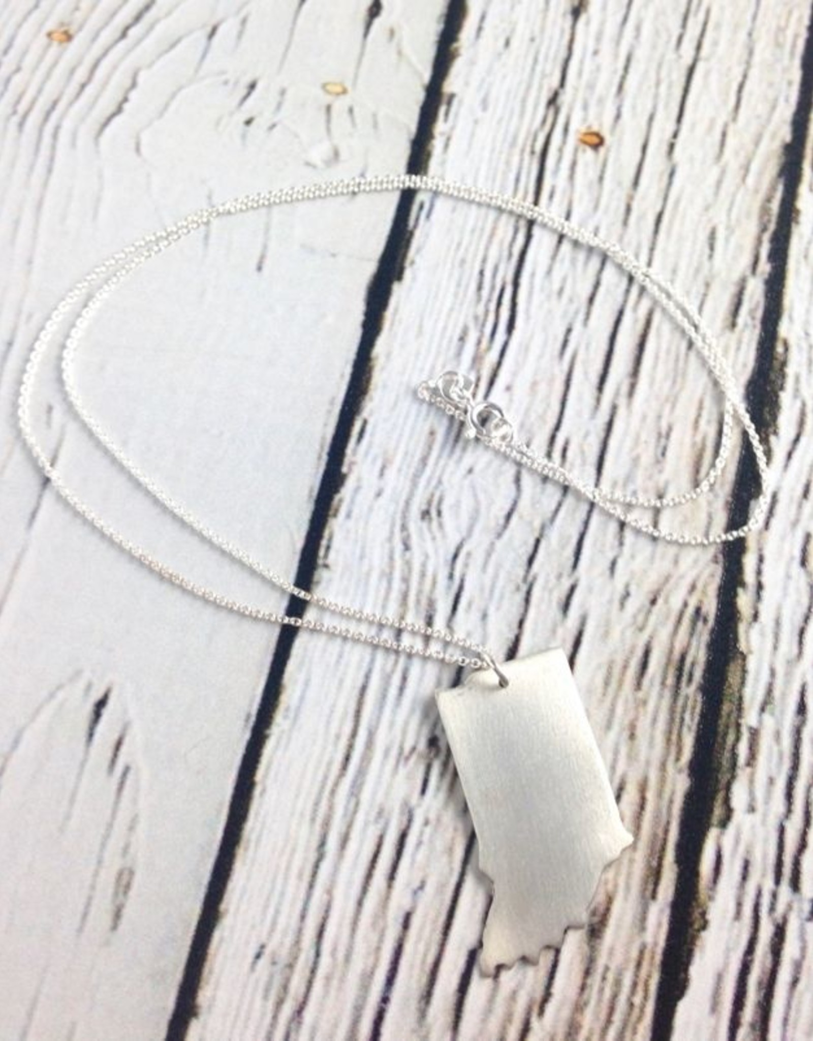 Handstamped Brushed Indiana Necklace