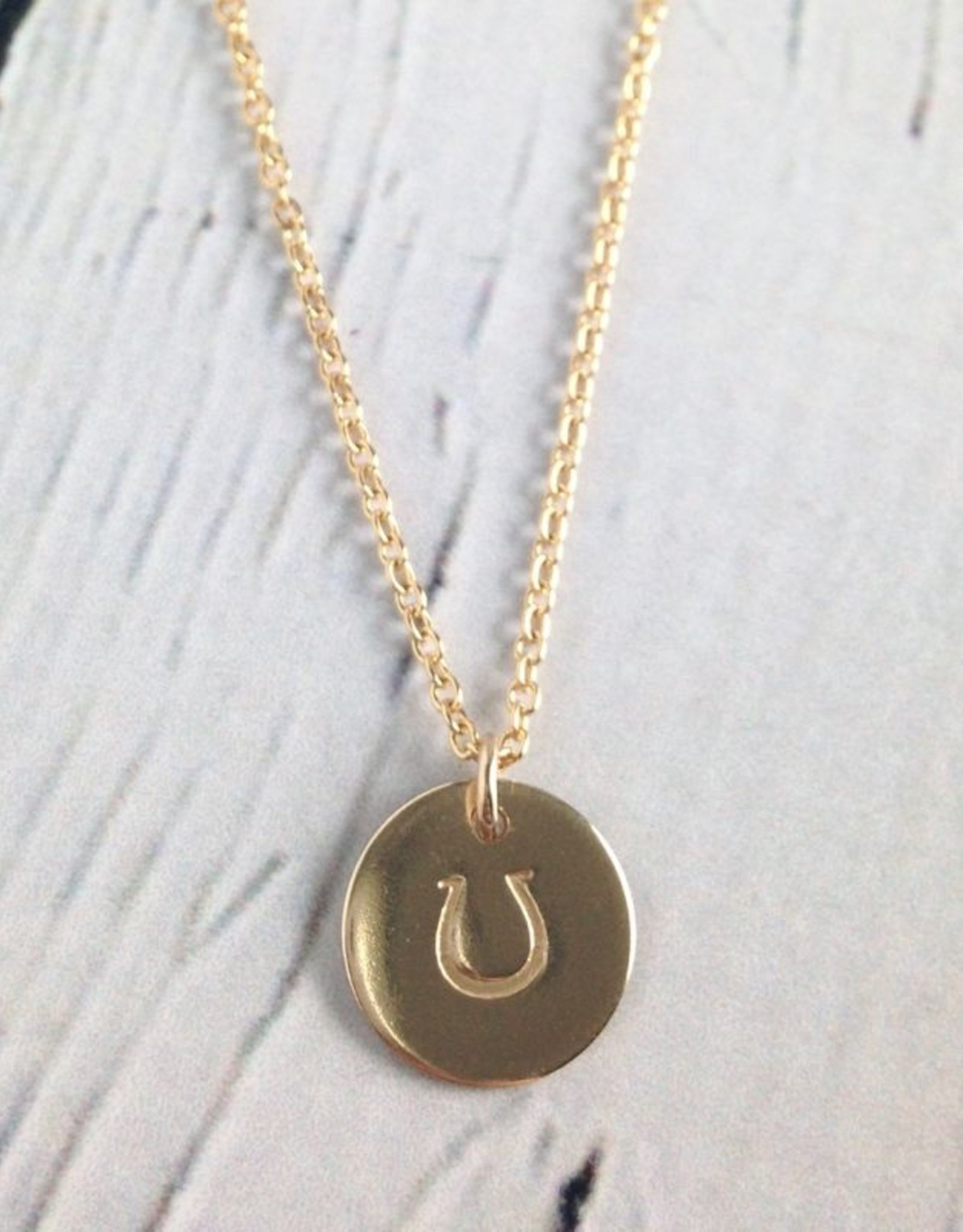 Handstamped Gold Filled Horseshoe