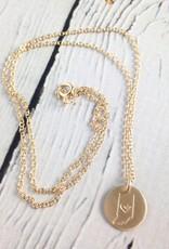 Handstamped Gold Filled Indiana Heart