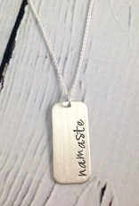 Handstamped Namaste Necklace