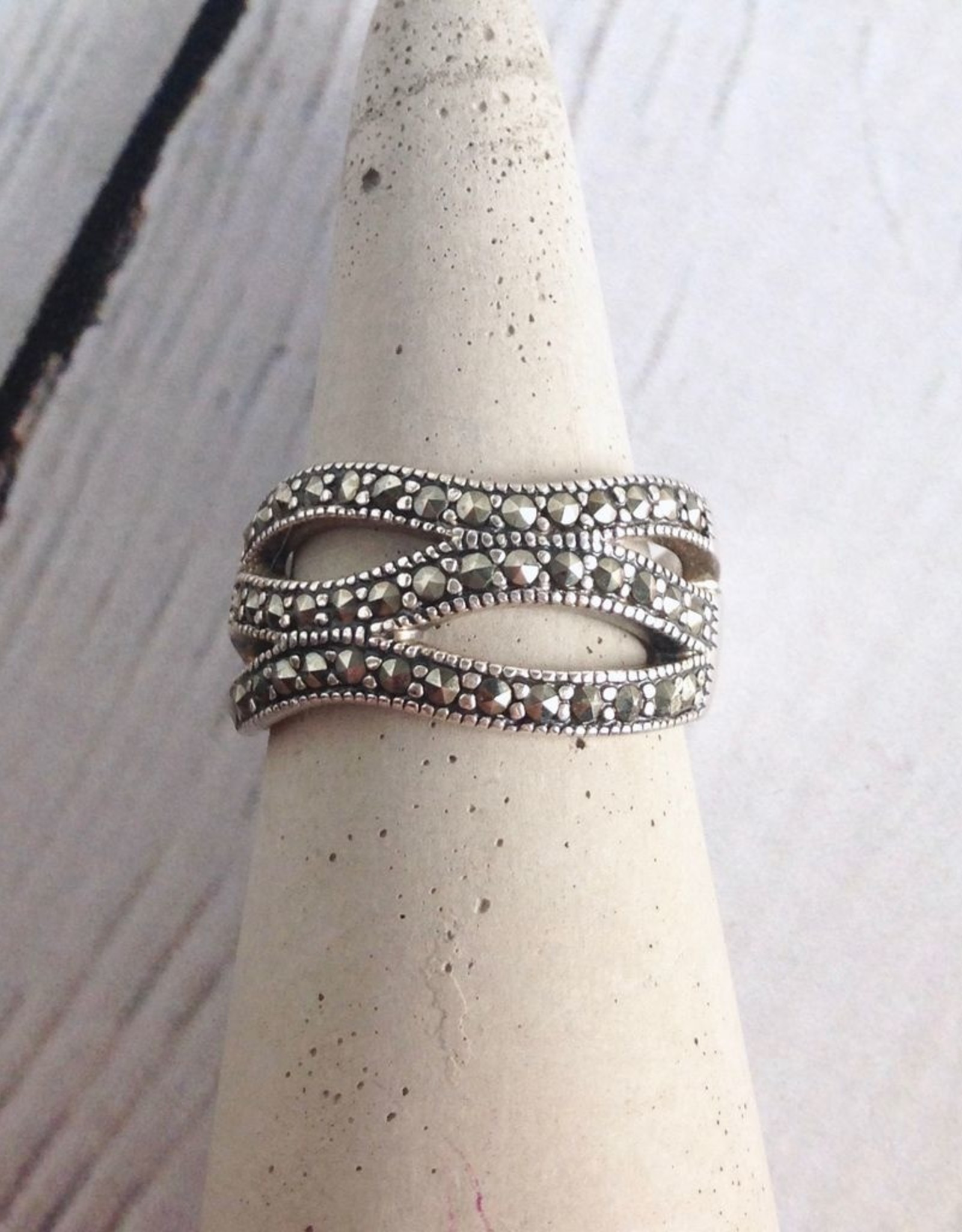 Boma Sterling Silver and Marcasite Ring