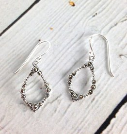 Sterling Silver and Marcasite Dangle Earrings