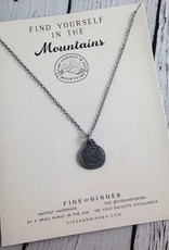 FIGS&GINGER Find Yourself in the Mountains Necklace made of Recycled Sterling Silver