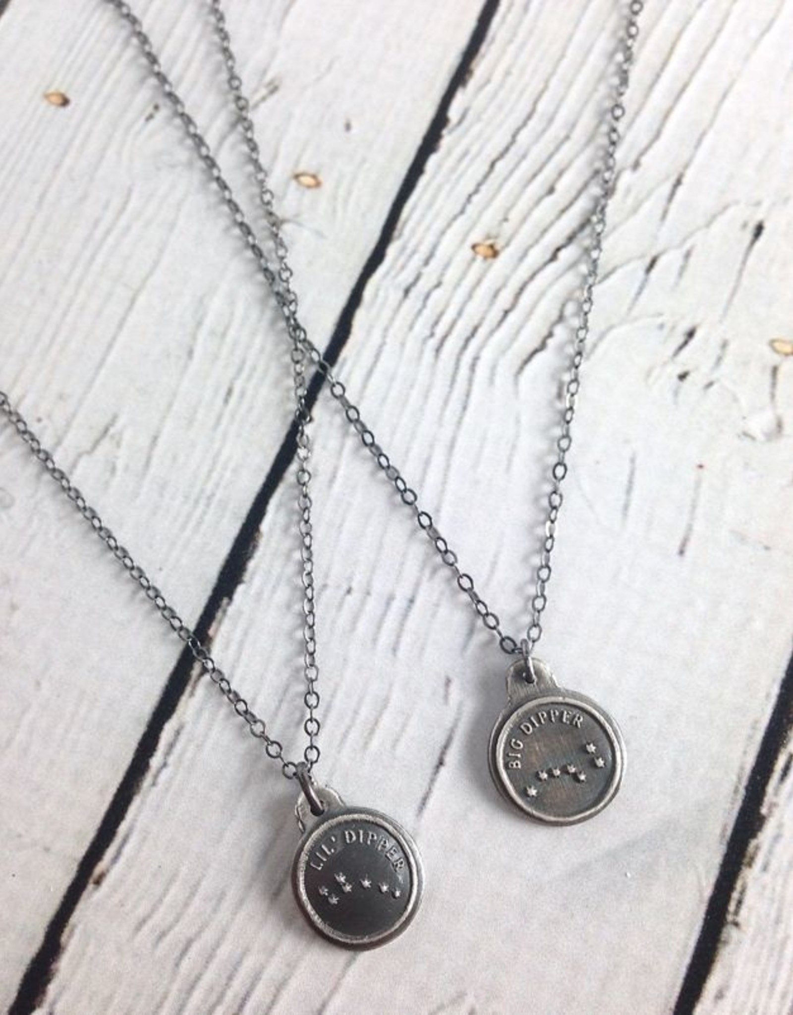 Big Dipper & Little Dipper, Set of 2 Recycled Sterling Silver Necklaces by Figs & Ginger